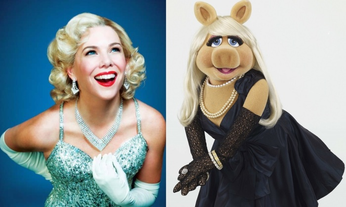 Miss Piggy as Adelaide