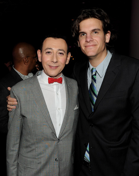Alex Timbers with Pee-Wee Herman, a Human Muppet