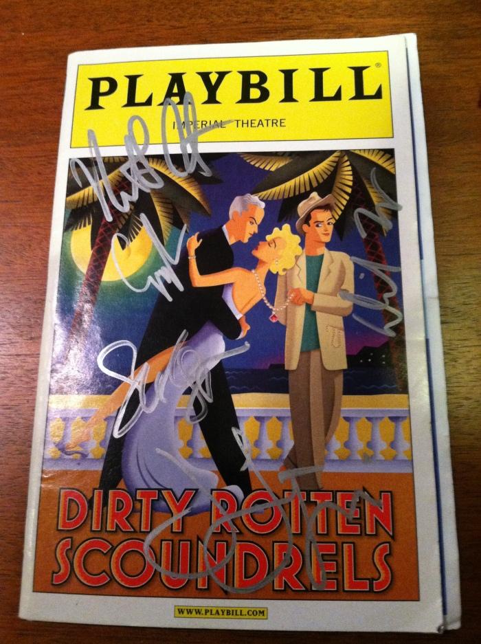 Dirty Rotten Scoundrels - Playbill