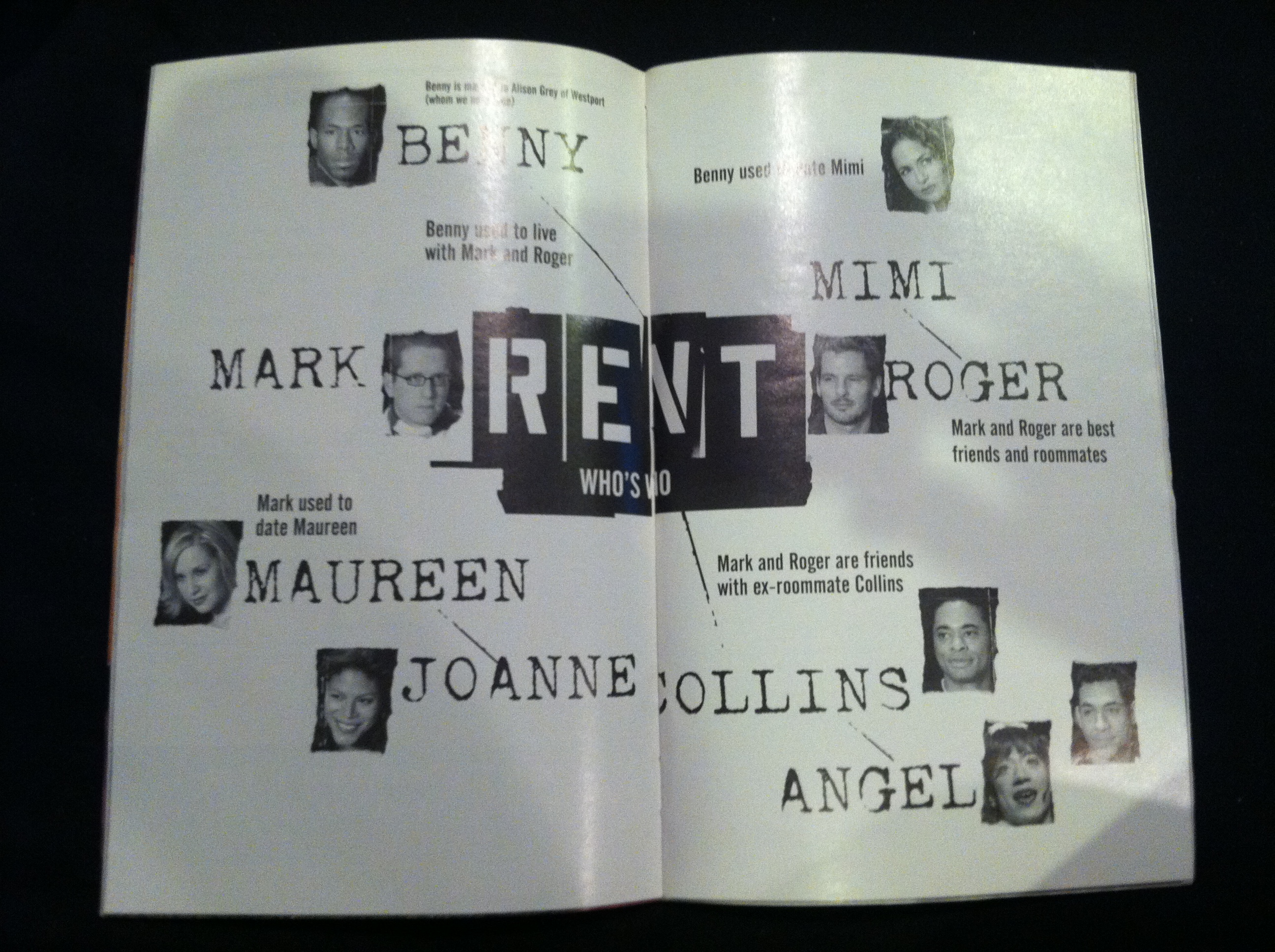 Playbill Throwback: Rent | Ludus NYC - On Broadway, Off