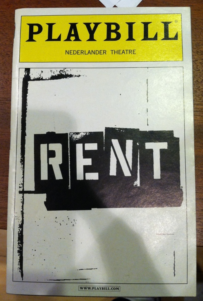 Rent - Playbill