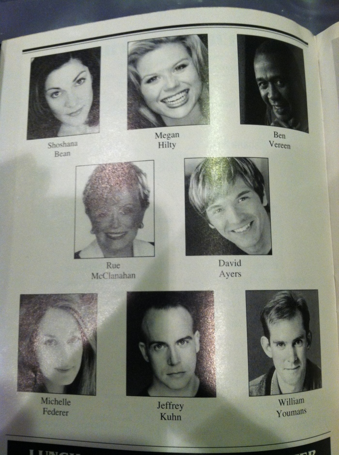 Wicked Playbill - Cast