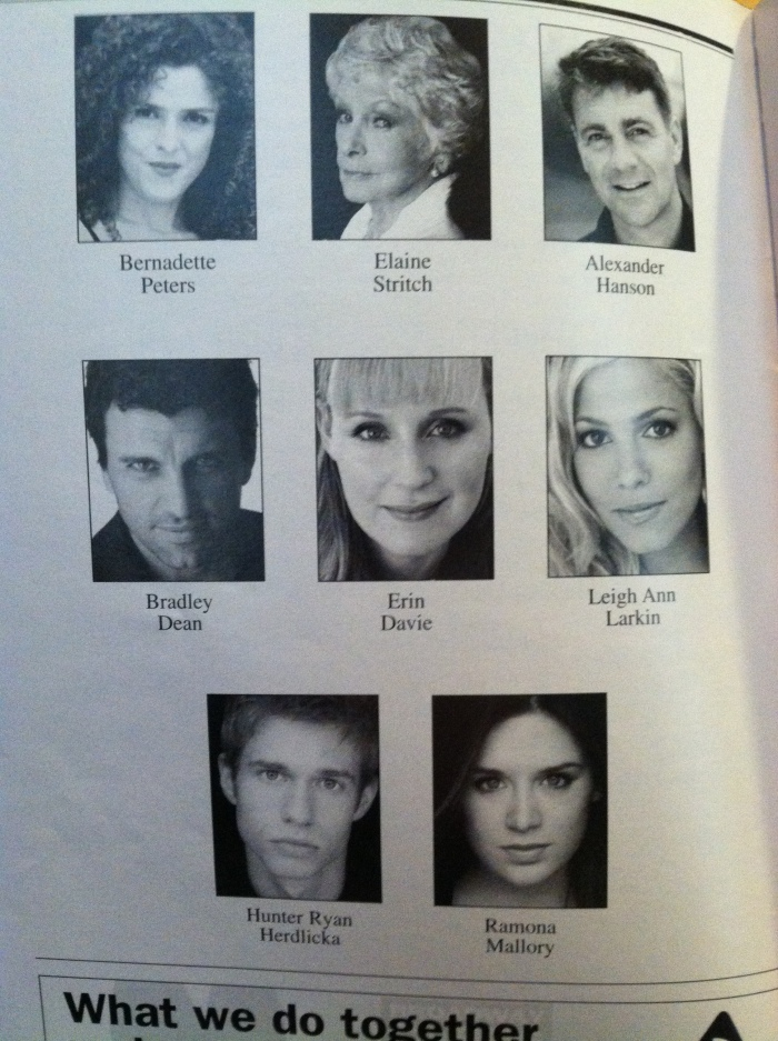 A Little Night Music - Playbill - Cast