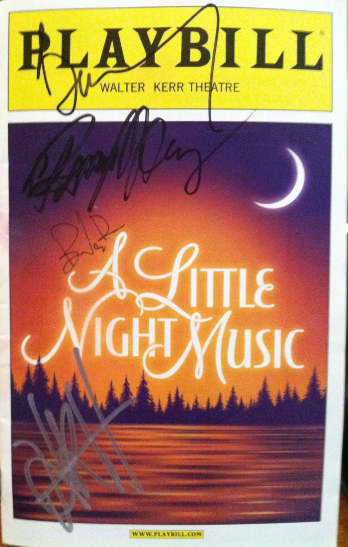 A Little Night Music - Playbill Cover