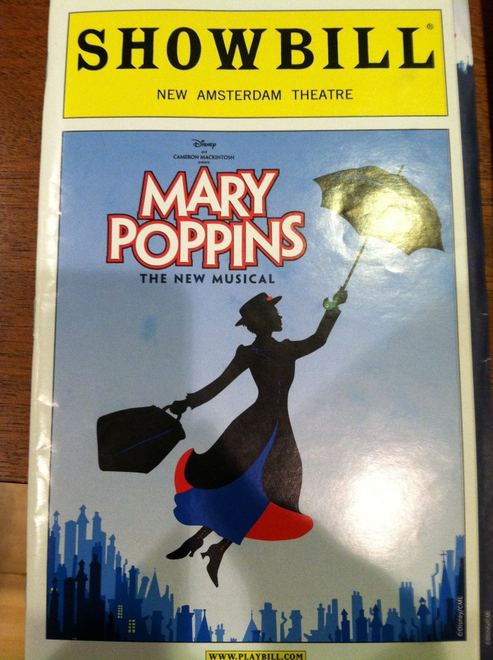 Mary Poppins - Playbill Cover