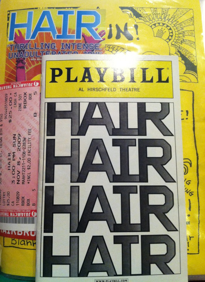 Hair - 2009 Revival - Playbill