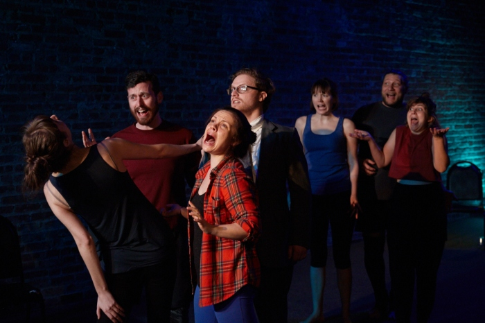 Pictured: Anastasia Olowin, Jon Riddleberger, Lauren Swan-Potras, Nathaniel Basch-Gould, Emily Marro, Harlan Alford, Sam Corbin Photography by Suzi Sadler